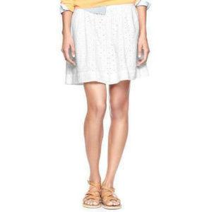 Gap Circle Eyelet Mini Skirt